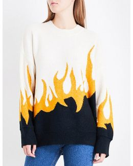 Fired Up Knitted Jumper