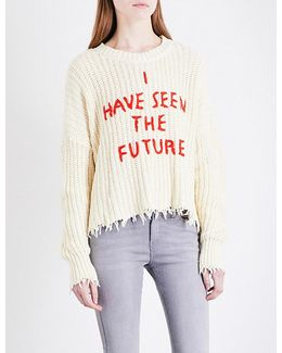 I Have Seen The Future Chunky-knit Jumper