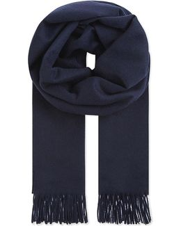 Ladies White Casual Cashmere Scarf