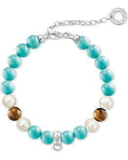 Charm Club Multi-stone Charm Bracelet