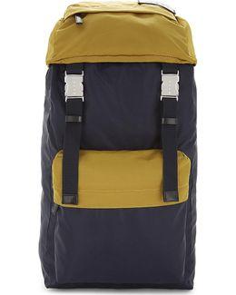 Two-tone Nylon Backpack