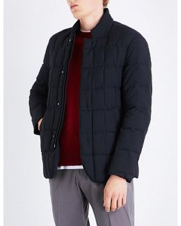 Stand-collar Quilted Shell Jacket