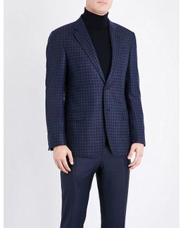 Checked Silk And Wool-blend Jacket