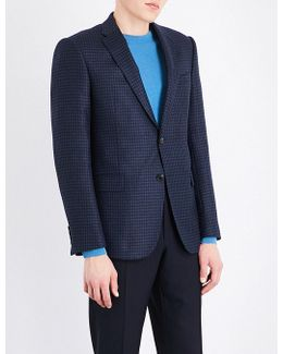 Checked Wool And Cashmere-blend Jacket