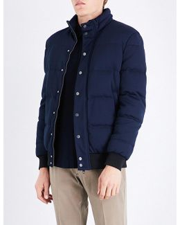 Padded Feather-down Quilted Jacket