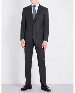 Tailored-fit Wool And Cashmere-blend Suit