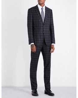 Academy-fit Checked Wool Suit