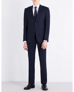 Slim-fit Prince Of Wales Check Wool Suit