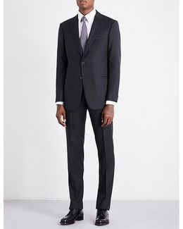 Academy-fit Pinstriped Wool Suit
