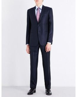 Academy-fit Diamond-patterned Wool And Silk-blend Suit