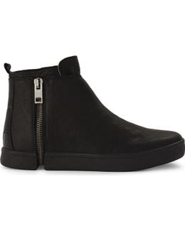 S-leeve Leather High-top Trainers