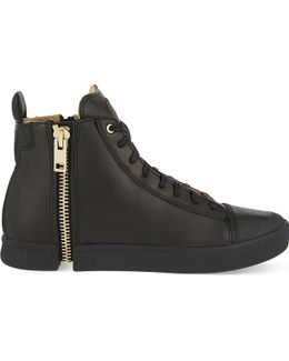 S-nentish Leather High-top Trainers