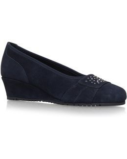 Allie Mid Wedge Heel Court Shoes