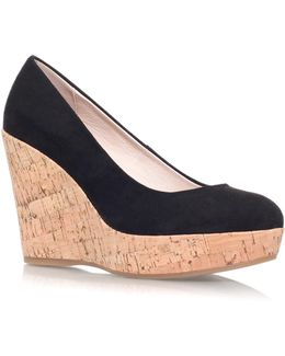 Attend Wedge Heeled Court Shoes