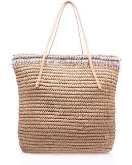 Diamante Raffia Bag