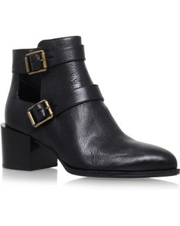 Evalee Leather Ankle Boots