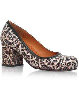Itambe Printed Leather Pumps