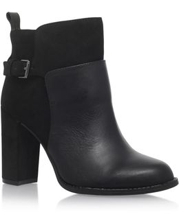 Quinah Leather And Suede Booties