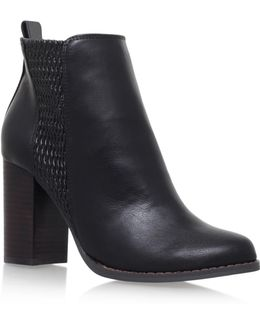 Scorpion High Heel Ankle Boots