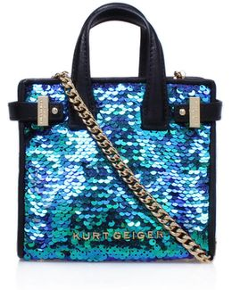 Sequins Micro London Tote Bag