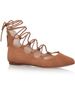 Signmeup9 Lace Up Ballerina Pumps