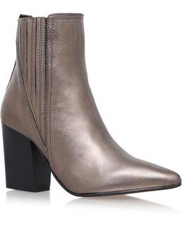 Slate Metallic Ankle Boots