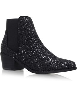 Spider Low Heel Ankle Boots