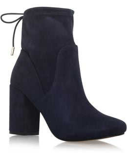 Swan High Heel Ankle Boots