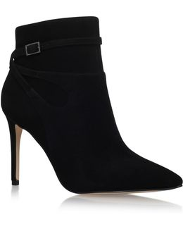Tanesha Suede Heeled Ankle Boots