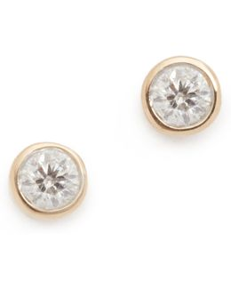 Single Diamond Stud Earrings