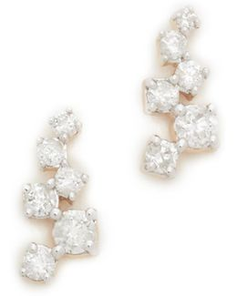 Scattered Diamond Stud Earrings