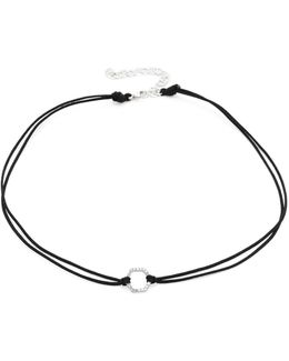 Pave Hexagon Choker Necklace