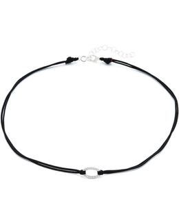 Pave Oval Choker Necklace