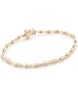 14k Gold Pave Triangle Tennis Bracelet