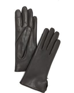 Lapin Leather Fur Gloves