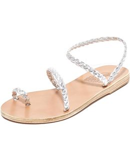 Eleftheria Braided Nappa Leather Sandals