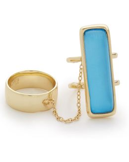 Elongated Double Band Ring Set