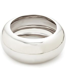Large Liquid Metal Dome Bangle