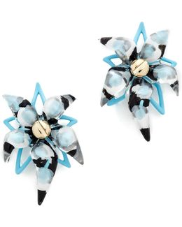 Abstract Flower Screw Earrings