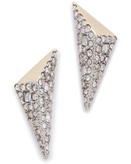 Two Tone Pyramid Earrings
