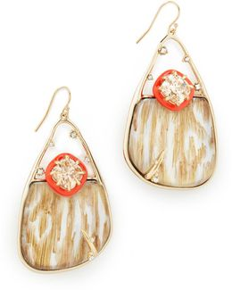 Woodgrain Wire Earrings