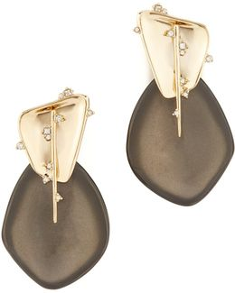Satellite Crystal Spike Clip On Earrings