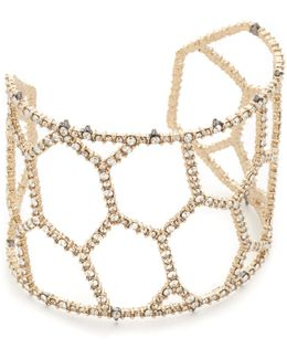 Honeycomb Frame Cuff Bracelet
