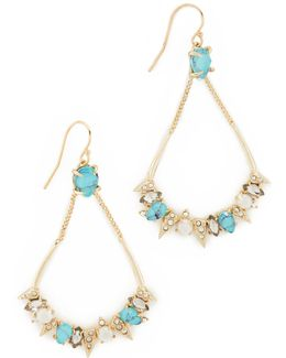 Pavé Spike Stone Cluster Earrings