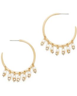 Crystal Lace Chandelier Hoop Earrings