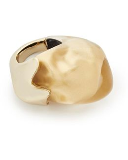 Domed Liquid Silk Cocktail Ring
