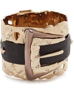 Crystal Buckle Cuff Bracelet