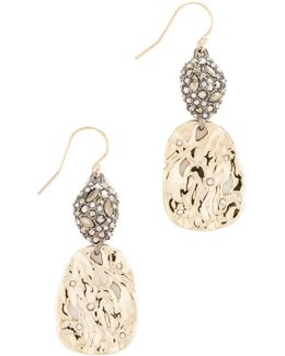 Hammered Crystal Earrings