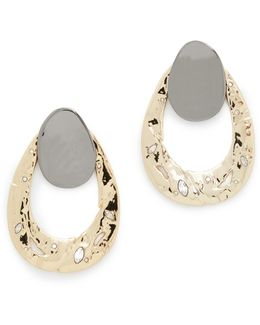 Open Hammered Earrings