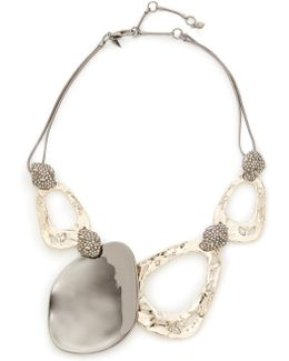 Crystal Accent Bib Necklace